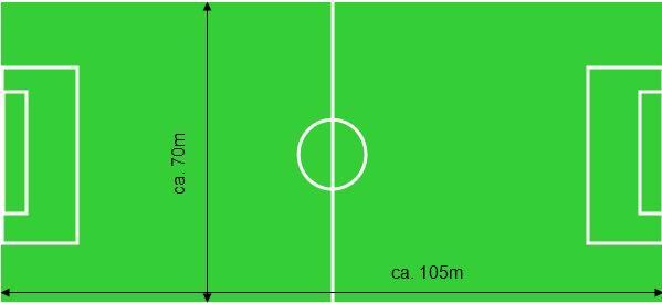 Fläche Fußballfeld